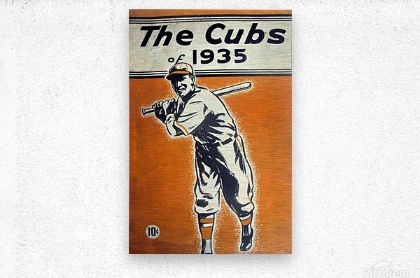 1935 Chicago Cubs Program Cover  Metal print