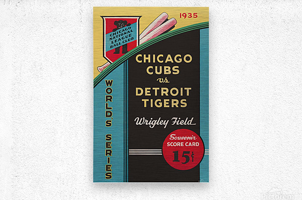 1935 Chicago Cubs World Series Program Cover  Metal print