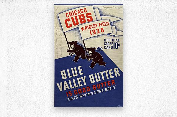 1938 Chicago Cubs Program Cover  Metal print