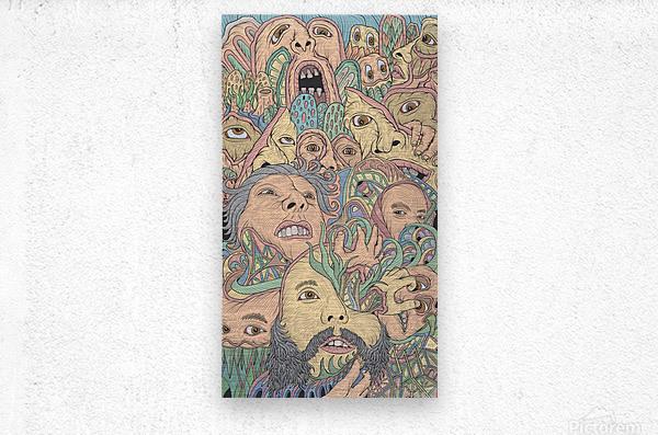 Silent Rage  Metal print