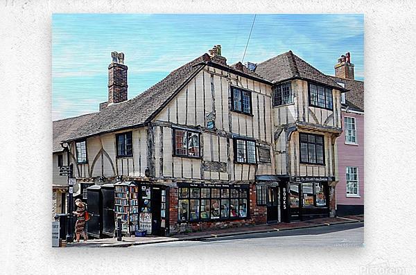 Ye Olde Bookshop Lewes front view  Metal print