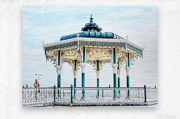 The Bandstand on Brighton Seafront  Metal print