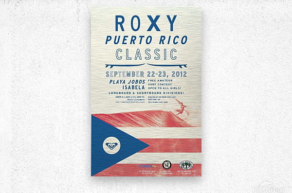 2012 ROXY PUERTO RICO CLASSIC Surfing Competition Print  Metal print