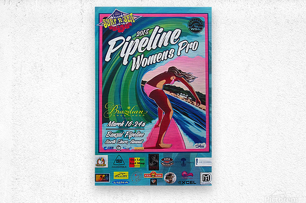 2015 PIPELINE WOMENS PRO Surfing Competition Print  Metal print