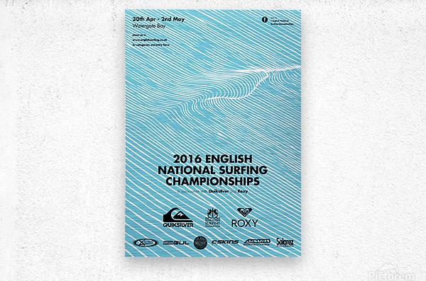 2016 ENGLISH NATIONAL SURFING Tournament Poster  Metal print