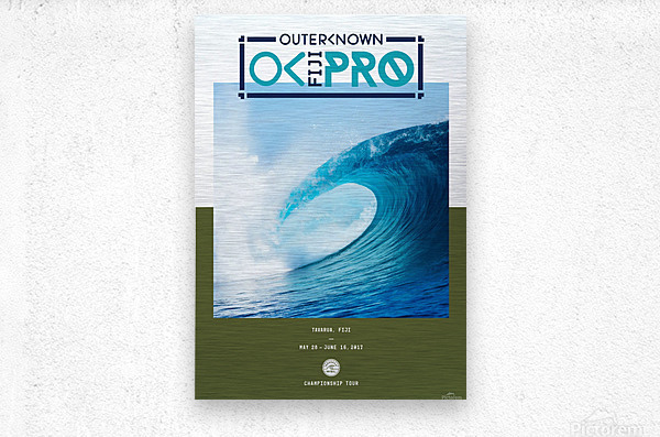 2017 OUTERKNOWN FIJI PRO Surf Competition Print  Metal print