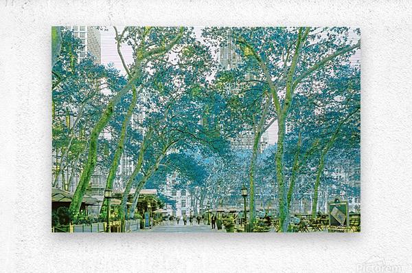 Bryant Park New York  Metal print