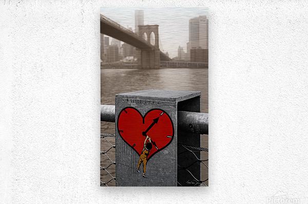 Fight - Peace - Love  Metal print