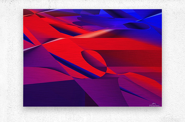 red and blue 0513a219  Metal print