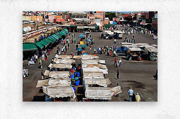 View Over Jemaa el Fnaa 1  Metal print