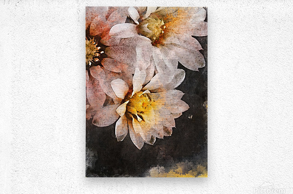 Flowers art  Metal print