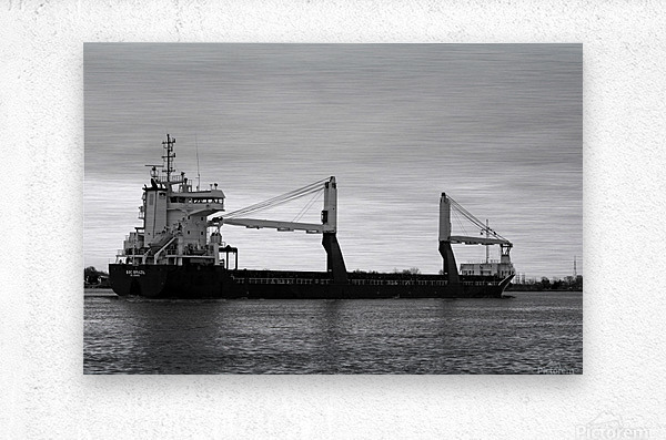 A Dark Ship and Dark Day 051219  Metal print
