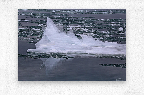 Jagged Ice on the River 2 021619  Metal print