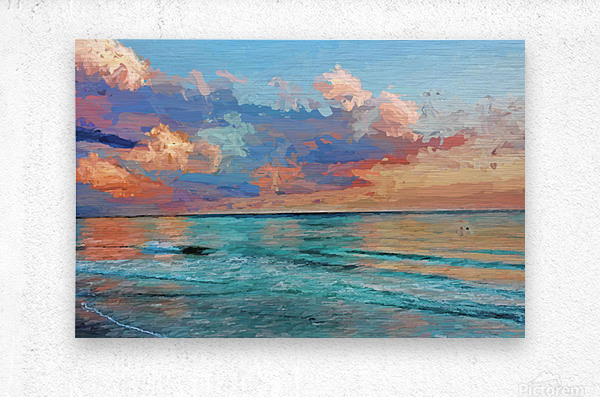 Seascape Serenade  Metal print
