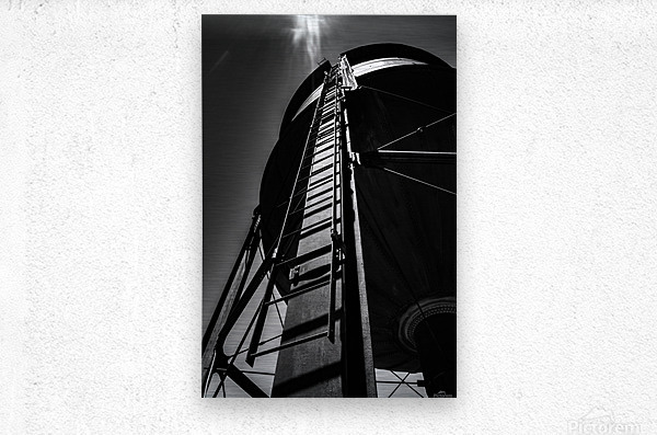 Water Tower BnW  Metal print