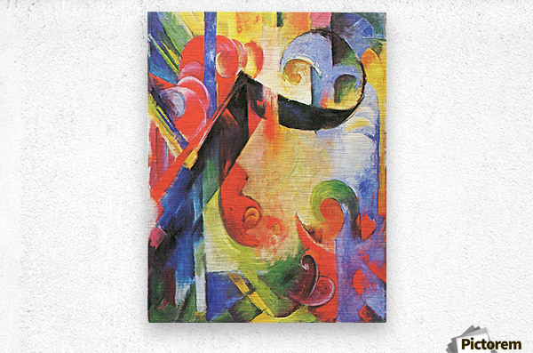 Broken Forms by Franz Marc  Metal print