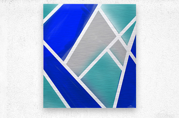 Quilted Geometric   Metal print