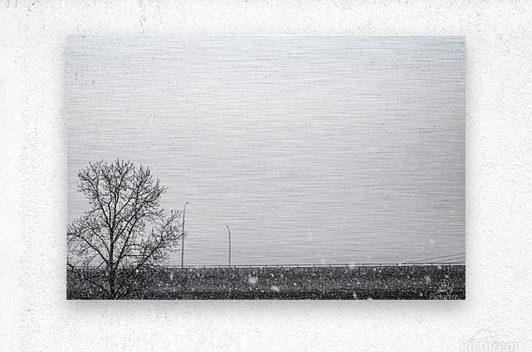 Freeway Snow...  Metal print