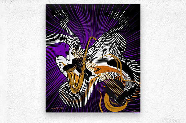 jazz vibes  Metal print