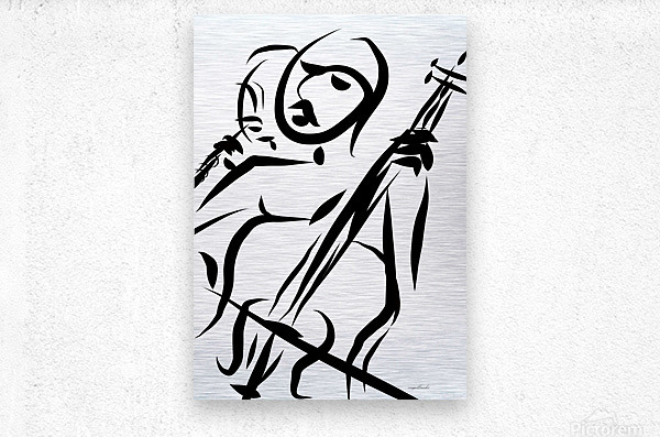 cello and flute  Metal print