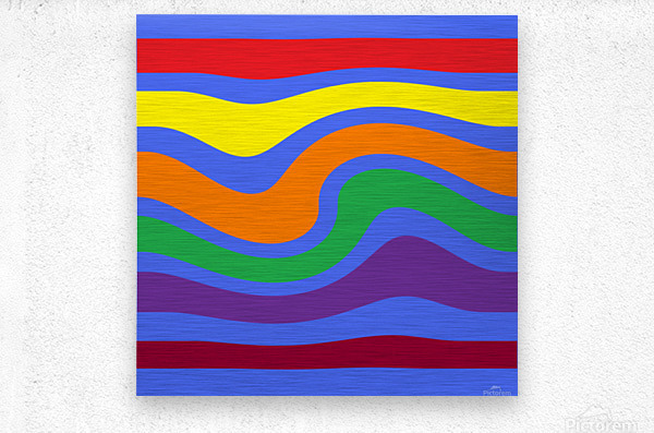 This is a beautiful design with great color, shape, line, texture, space and value.  (27)  Metal print