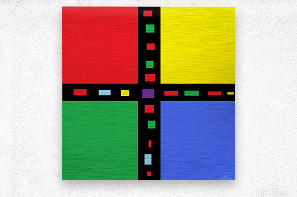 This is a beautiful design with great color, shape, line, texture, space and value.  (40)  Metal print