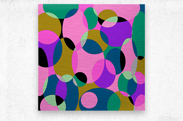 This is a beautiful design with great color, shape, line, texture, space and value.  (50)  Metal print