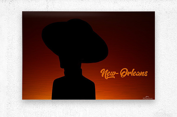 New-Orleans shadow  Metal print