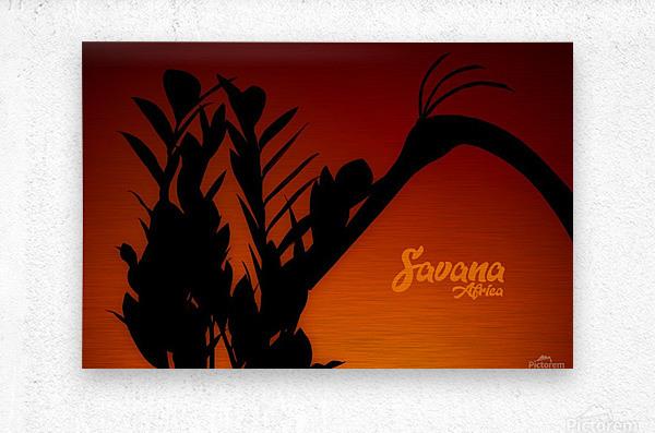 Savana Africa  Metal print
