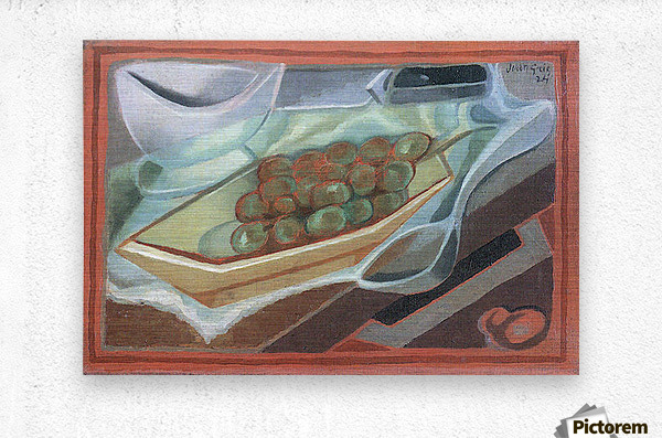 Grapes by Juan Gris  Metal print