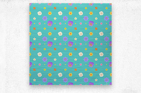 flowers, patterns, pattern, cute, nice, beautiful, bright, colorful, lovely, sexy, vibrant, summer, color, colors, hot, garden, pretty, attractive, amazing, petals, springtime, flora, n (3)  Metal print