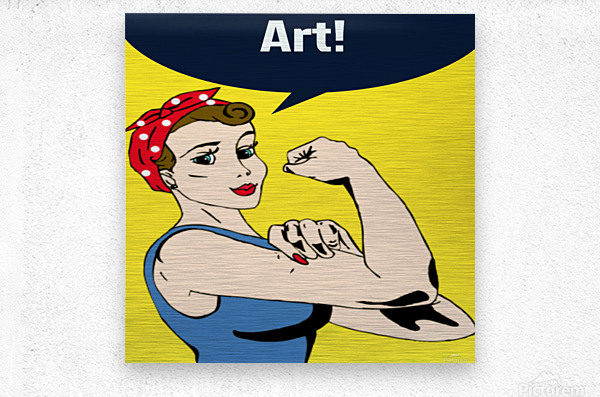Art Can Do It  Metal print