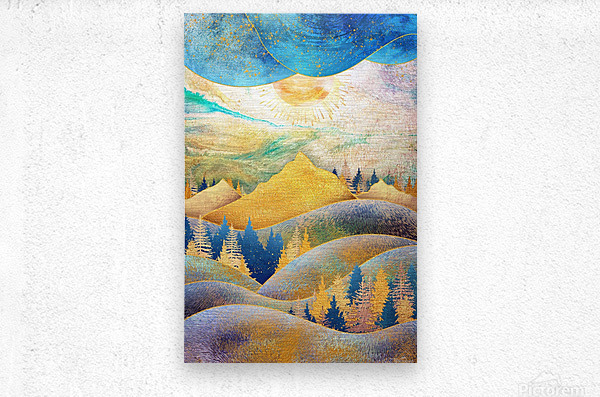 Beauty of Nature - Illustration III  Metal print