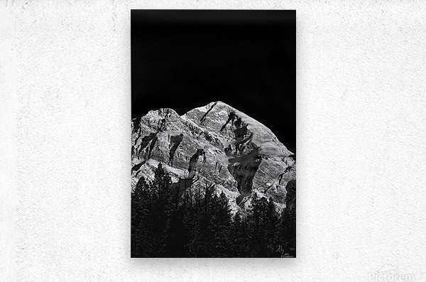 Mountain At Dawn...  Metal print