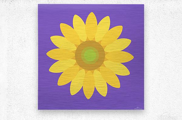 Sunflower (12)_1559875861.1864  Metal print