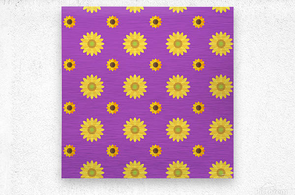 Sunflower (7)_1559876172.0135  Metal print