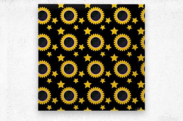 Sunflower (23)_1559876174.6454  Metal print