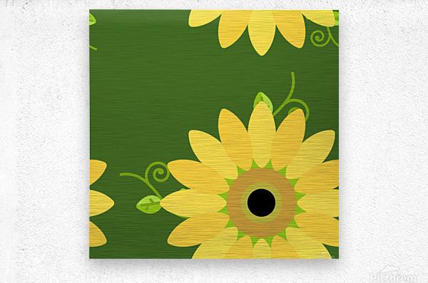 Sunflower (59)_1559876248.3591  Metal print