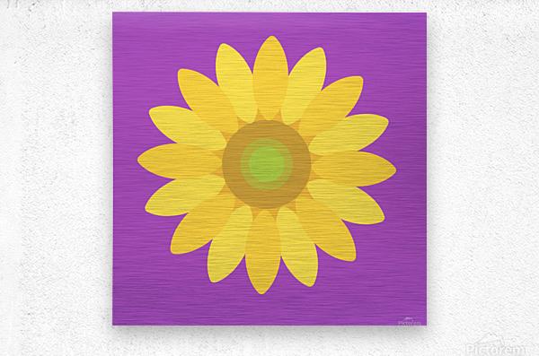 Sunflower (11)_1559876482.665  Metal print