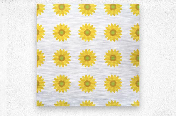 Sunflower (4)_1559876456.7576  Metal print