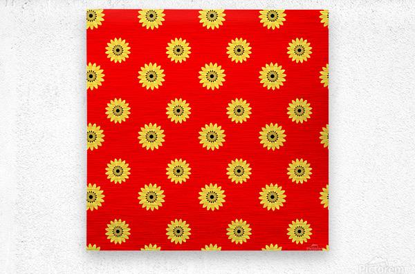 Sunflower (43)_1559876736.3891  Metal print
