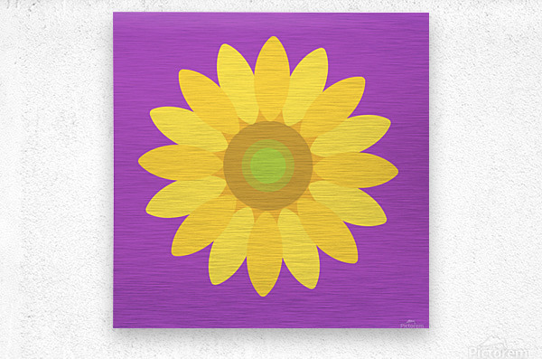 Sunflower (11)_1559876729.3965  Metal print
