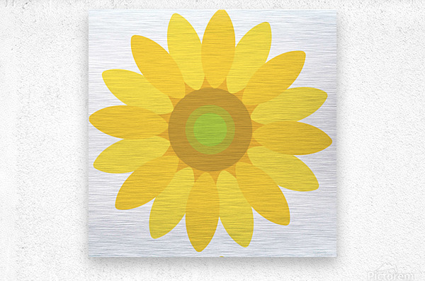Sunflower (8)_1559876666.5423  Metal print