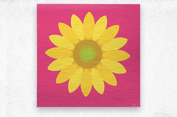 Sunflower (10)_1559876665.7513  Metal print