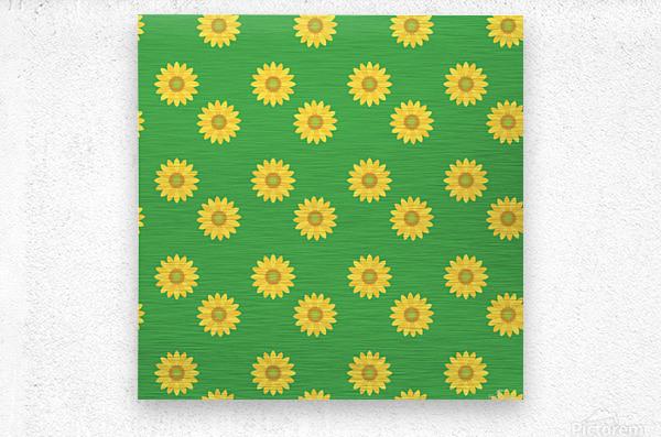 Sunflower (38)_1559876660.041  Metal print