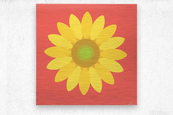 Sunflower (9)_1559876665.3835  Metal print
