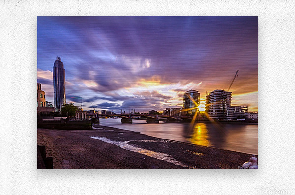 Vauxhall London  Metal print