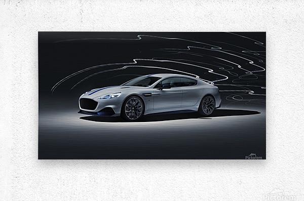 Aston martin rapid Car  Metal print