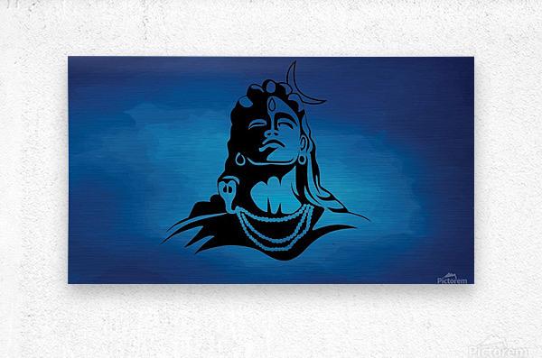 Lord Shiva  Metal print