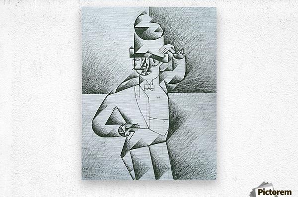 Man in Cafe by Juan Gris  Metal print